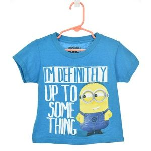 Despicable Me Blue Graphic Minion T-Shirt